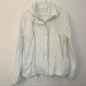 Lou and Grey Lightweight White Hooded Jacket Sz M